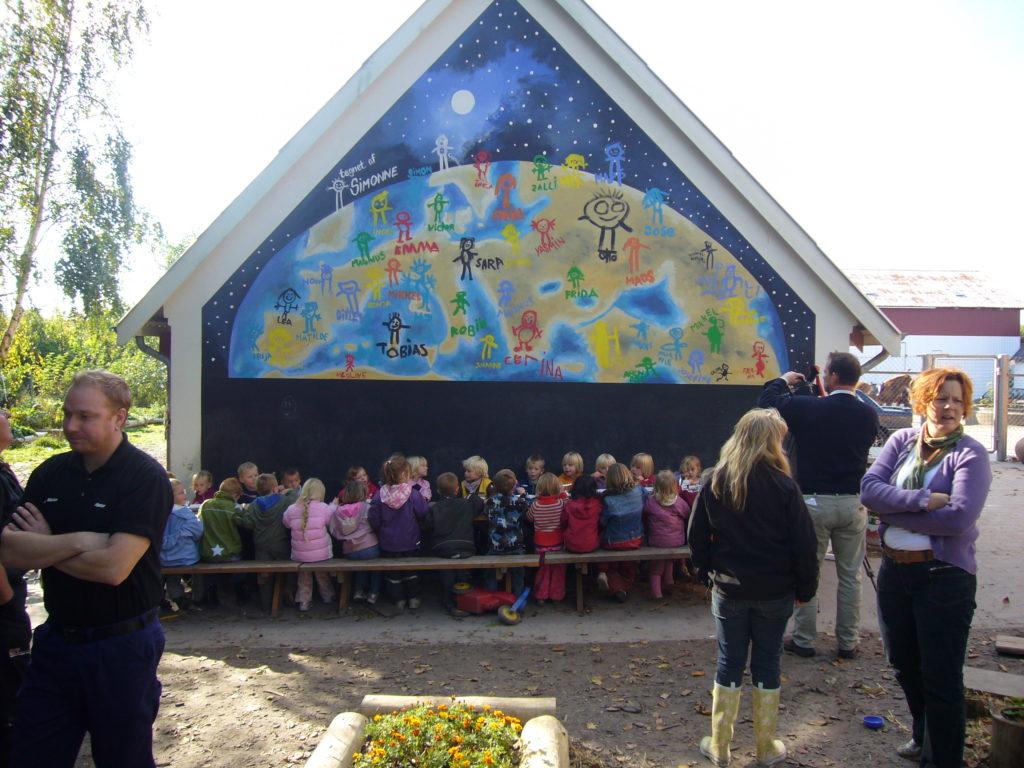 Børnehave udsmykning af gavl - efter