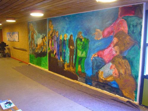 Asgårdsskolen Ringsted - temaudsmykning af fællesarealer -SIMONNE.DK