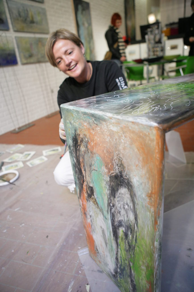 Kulturnat - kunst på bord - SIMONNE.DK