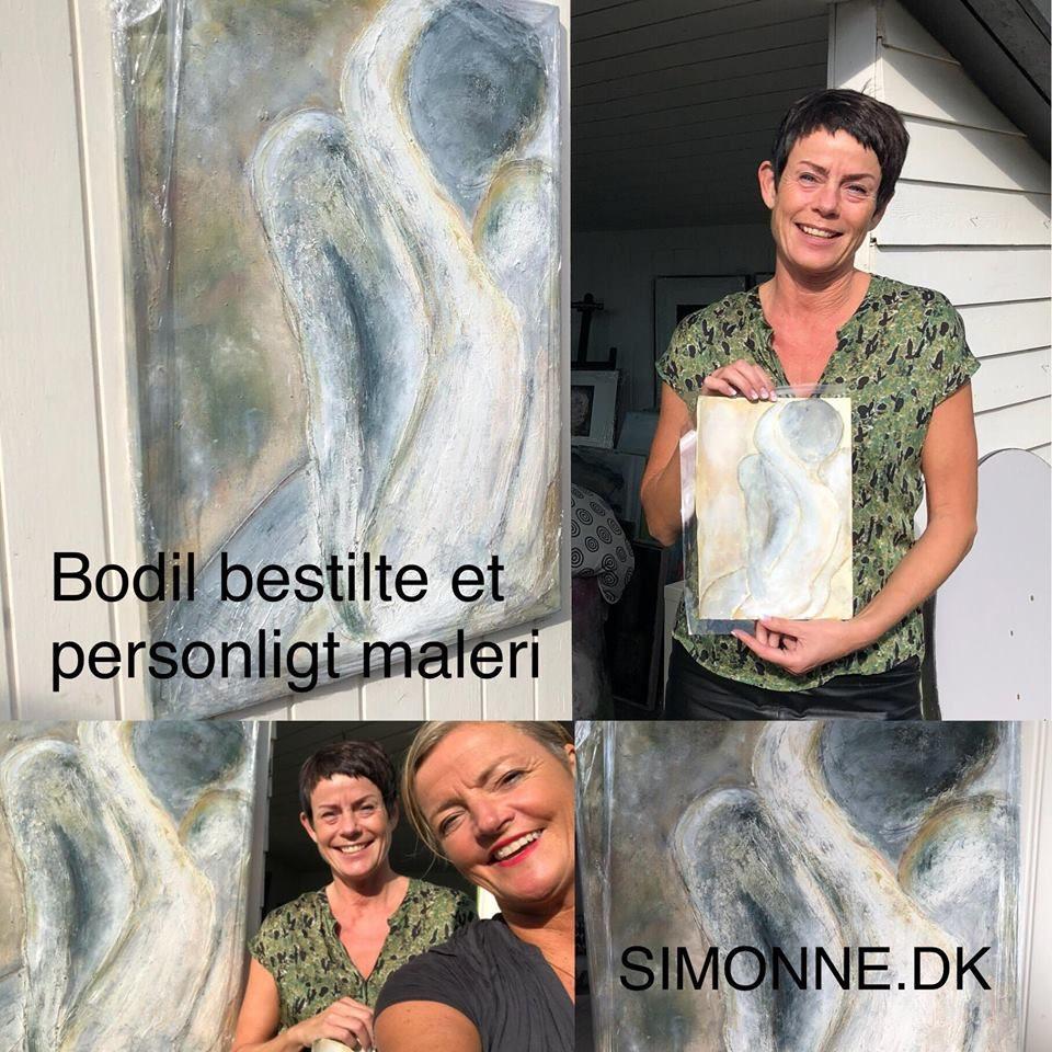 Personligt maleri bestilt af Bodil - SIMONNE.DK