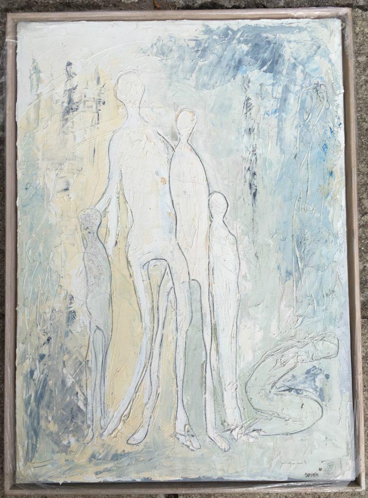 Søgen - Oliemaleri 70 x 50 kr 3500,- - SIMONNE.DK