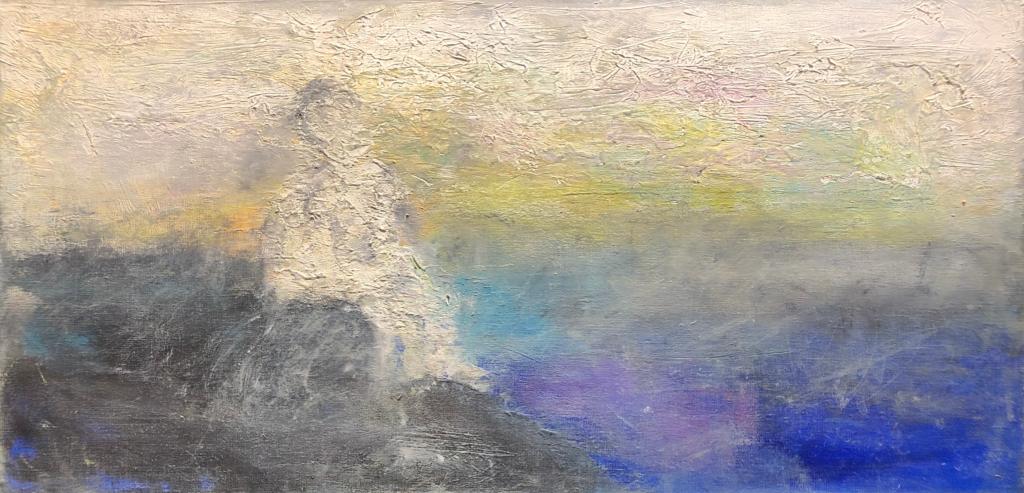 August - 80 x 40 - Olie på hør - kr. 3500,-