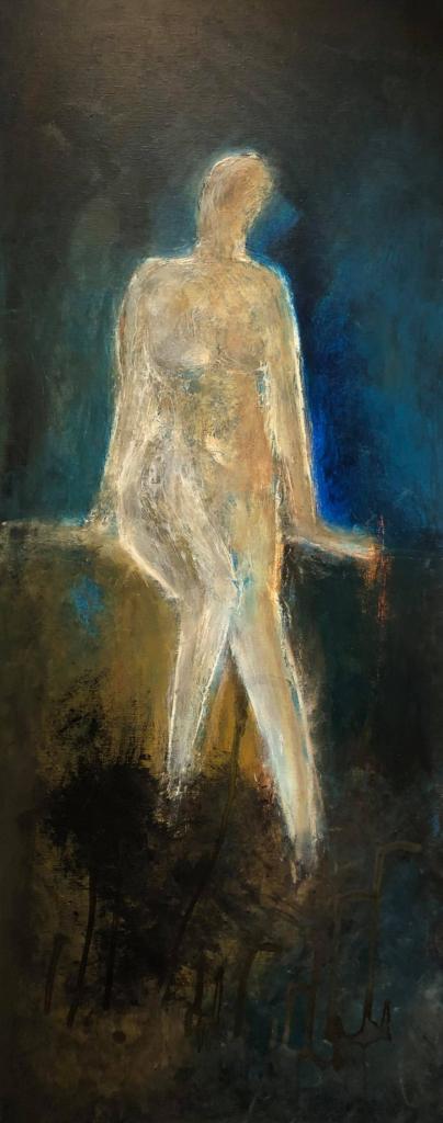Stærk i svagheden - 60 x 150 - Akryl maleri - kr